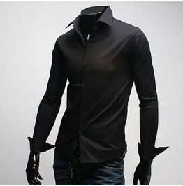 Shirt Fd001 Color : Black