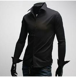 Shirt Fd001 Color : Black