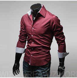 Shirt Nms314 S Color : Wine