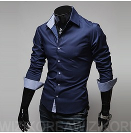 Shirt Nms314 S Color : Navy