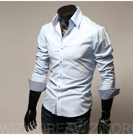 Shirt Nms314 S Color : Skyblue
