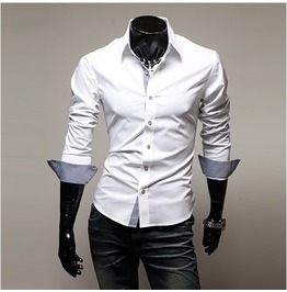 Shirt Nms314 S Color : White
