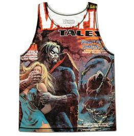 Men's Halloween Tank Top Singlet Vest Vampire Tales Night Demon Cult Comic
