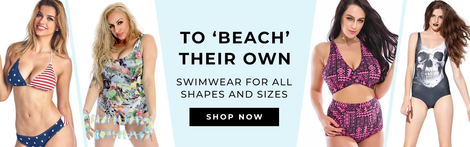 April swimwear homepage banner