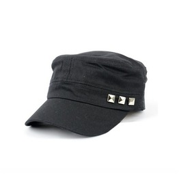 Men's Cotton Casual Flat Top Peaked Baseball Adjustable Rivet Cap
