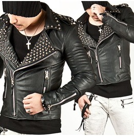 Tough Chic Masculine Stud Rider Leather Jacket