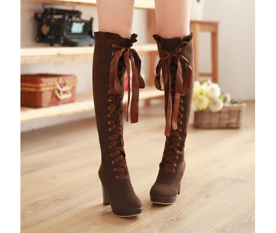 knee_high_lace_ribbon_thick_high_heel_boots_booties_6.JPG