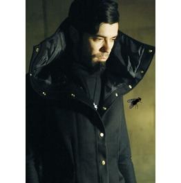 Masq Menswear Dieselpunk Cyberpunk Long Vest Black Snap Buttons Pockets Leather Details