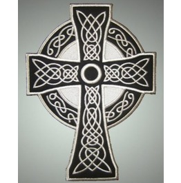 Celtic Cross Embroidered Back Patch, 8,4 X 12 Inch