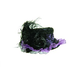 Damask Mini Top Hat Purple