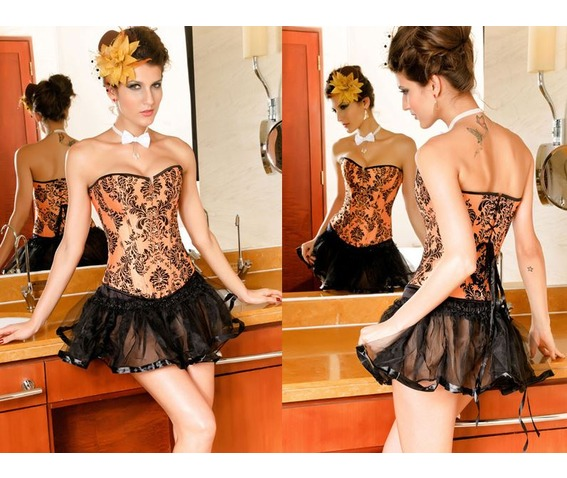 sexy_strapless_orange_floral_bustier_corset_bustiers_and_corsets_5.JPG