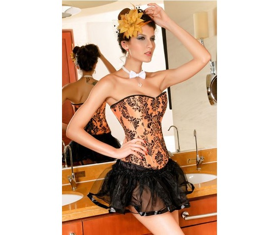 sexy_strapless_orange_floral_bustier_corset_bustiers_and_corsets_4.JPG