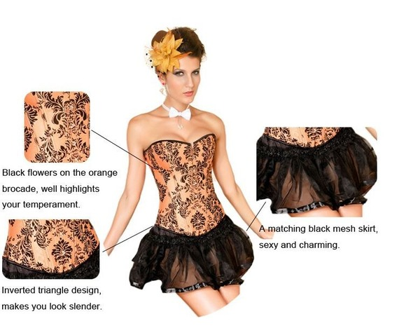 sexy_strapless_orange_floral_bustier_corset_bustiers_and_corsets_3.JPG