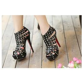 Black Studded Roman Sandals
