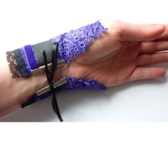 unicorn_cuff_bracelet_purple_black_gothic_victorian_wedding_dark_mori_bracelets_2.JPG