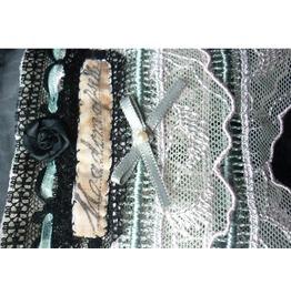 Mademoiselle Absinthe Cuff Bracelet Victorian French Wedding Dark Mori