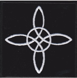 Witch Knot Embroidered Patch, 3,2 X 3,2 Inch
