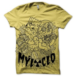Simpsons squish me tee yellow tees 2