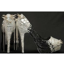 Gothic Custom Crystal High Heels Spikes