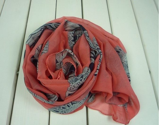 orange_skull_chiffon_scarf_scarves_3.JPG