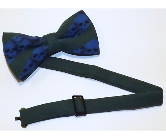 mens_skull_bow_tie_hunter_green_blue_adjustable_collar_band_bow_tie_ties_and_neckwear_2.jpg