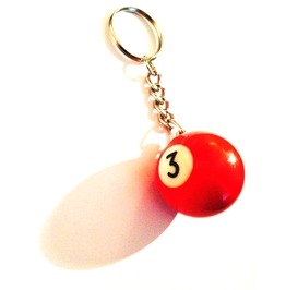 Super Cool! Miniature Snooker Ball Keyring 3 Red
