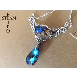 Rococo Inspired Steampunk Necklace Steampunk Jewelry Swarovski Crystal Necklace Steampunk Jewellery Steamretro