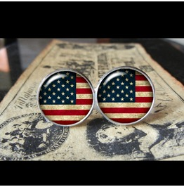 U.S.A Flags World Collection Fifa World Cup Cuff Links Men,Weddings,Groomsmen,Grooms,Dads,Gifts