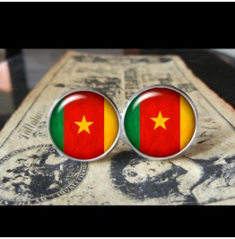 Cameroon Flags World Collection Fifa World Cup Cuff Links Men,Weddings,Groomsmen,Grooms,Dads,Gifts