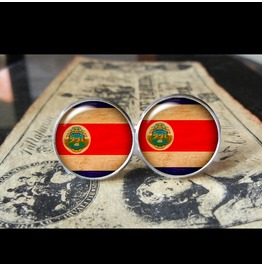 Costa Rica Flags World Collection Fifa World Cup Cuff Links Men,Weddings,Groomsmen,Grooms,Dads,Gifts