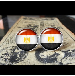 Egypt Flags World Collection Fifa World Cup Cuff Links Men,Weddings,Groomsmen,Grooms,Dads,Gifts