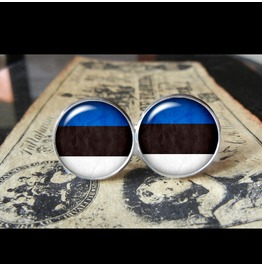 Estonia Flags World Collection Fifa World Cup Cuff Links Men,Weddings,Groomsmen,Grooms,Dads,Gifts