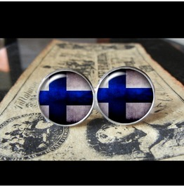 Finland Flags World Collection Fifa World Cup Cuff Links Men,Weddings,Groomsmen,Grooms,Dads,Gifts