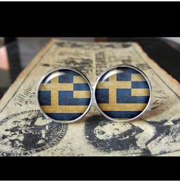 Greece Flags World Collection Fifa World Cup Cuff Links Men,Weddings,Groomsmen,Grooms,Dads,Gifts