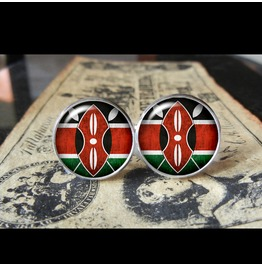 Kenya Flags World Collection Fifa World Cup Cuff Links Men,Weddings,Groomsmen,Grooms,Dads,Gifts