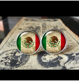 Mexico Flags World Collection Fifa World Cup Cuff Links Men,Weddings,Groomsmen,Grooms,Dads,Gifts