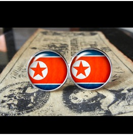 North Korea Flags World Collection Fifa World Cup Cuff Links Men,Weddings,Groomsmen,Grooms,Dads,Gifts