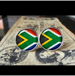 South Africa Flags World Collection Fifa World Cup Cuff Links Men,Weddings,Groomsmen,Grooms,Dads,Gifts