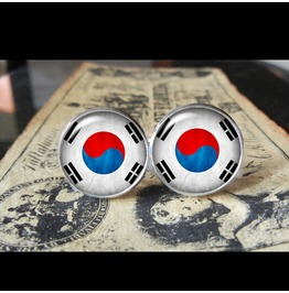 South Korea Flags World Collection Fifa World Cup Cuff Links Men,Weddings,Groomsmen,Grooms,Dads,Gifts