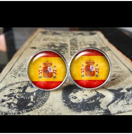 Spain Flags World Collection Fifa World Cup Cuff Links Men,Weddings,Groomsmen,Grooms,Dads,Gifts
