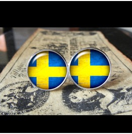 Sweden Flags World Collection Fifa World Cup Cuff Links Men,Weddings,Groomsmen,Grooms,Dads,Gifts