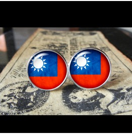 Taiwan Flags World Collection Fifa World Cup Cuff Links Men,Weddings,Groomsmen,Grooms,Dads,Gifts