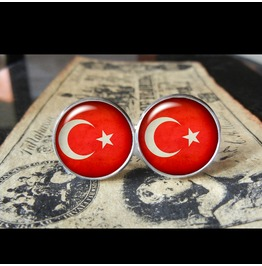 Turkey Flags World Collection Fifa World Cup Cuff Links Men,Weddings,Groomsmen,Grooms,Dads,Gifts