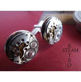 Mens Steampunk Wedding Cufflinks 16 Mm Steampunk Cufflinks Steampunk Jewellery Steamretro