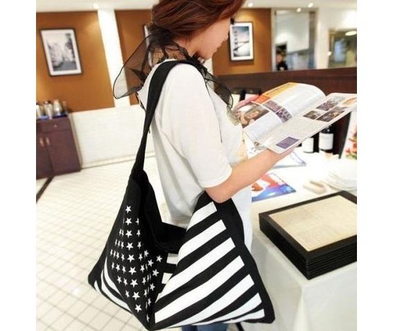 casual_stars_stripes_canvas_shoulder_handbag_purses_and_handbags_4.JPG