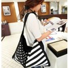 Casual stars stripes canvas shoulder handbag purses and handbags 4