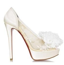 Mesh Lace Bridal Shoe Flower