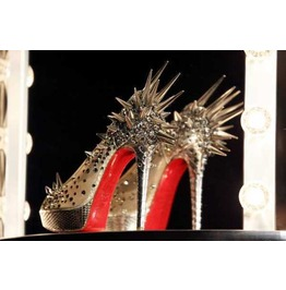 Multi Spiked Pump Red Bottoms