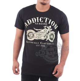Addiction West Coast Choppers Motorcycle Tattoo Men Tee Shirt