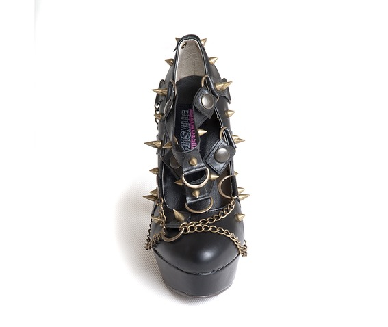shitsville_kustomized_brassy_steampunk_black_pleather_pumps_killer_studs_chains_heels_2.jpg